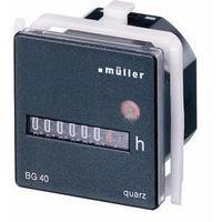 Počítadlo provozních hodin Müller BG4017, 12 - 48 V/DC, 45 x 45 mm