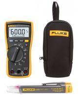 Digitální multimetr Fluke 115 + zkoušečka napětí LVD2 a pouzdro Fluke C90