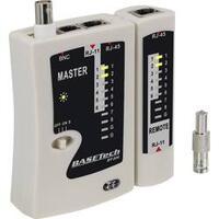 Kabelová zkoušečka Basetech BT-200 pro zástrčky RJ-45, RJ-11, BNC