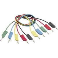 Měřicí kabel banánek 4 mm ⇔ banánek 4 mm SKS Hirschmann CO MLN 50/1, 0,5 m, zelená