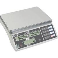 Počítací váha Kern CXB 3K0.2+C, Max. váživost 3 kg, Rozlišení 0.2 g, stříbrná, Kalibrováno dle DAkkS