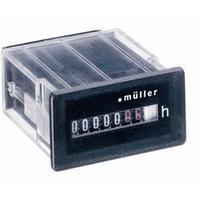 Počítadlo provozních hodin Müller BW3018, 230 V/50 - 60 Hz, 50 x 25 mm