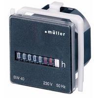 Počítadlo provozních hodin Müller BW4018, 230 V/50 Hz, 45 x 45 mm