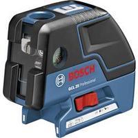 Samonivelační bodový laser Bosch Professional GCL 25, Kalibrováno dle: bez certifikátu