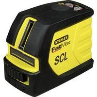 Samonivelační křížová laserová vodováha Stanley by Black & Decker FatMax SCL, dosah (max.): 10 m, Kalibrováno dle: bez certifikátu