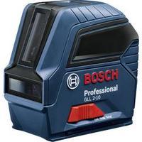 Samonivelační, vč. tašky křížová laserová vodováha Bosch Professional GLL 2-10, dosah (max.): 10 m, Kalibrováno dle: bez certifikátu