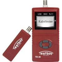 Tester kabelů Testboy Testboy 28 vhodný pro USB, RJ11, RJ45, BNC kabely