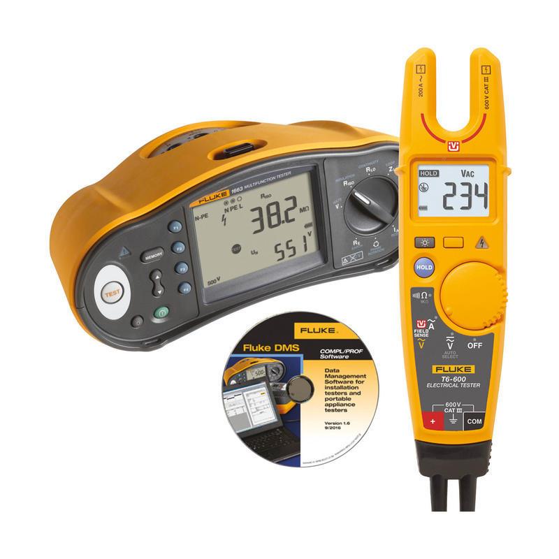 Tester elektrických instalací Fluke 1663 + Fluke T6-600 a SW - 1