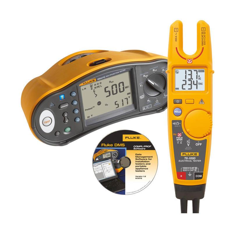 Tester elektrických instalací Fluke 1664 FC + Fluke T6-1000 a  SW - 1