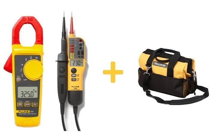 Výhodný set - klešťový ampérmetr Fluke 325 + Fluke T150 a Fluke C550