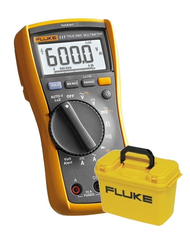 Fluke 117 - digitální multimetr a kufr Fluke C1600 - 1