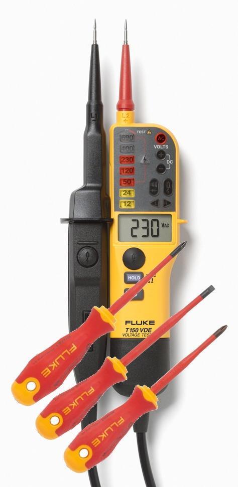 Fluke T150/VDE - zkoušečka napětí a šroubováky Fluke IPHS1/ISLS8/IPHS2 - 1