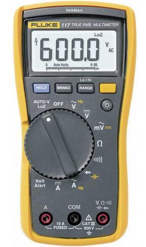 Fluke 117 - digitální multimetr + pouzdro Fluke C25 - 2